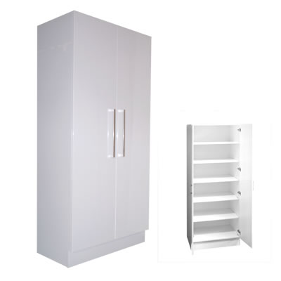 Pantry/Linen Cupboard Double Door 80cm