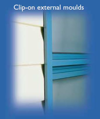 Double Sliding Window External Moulds