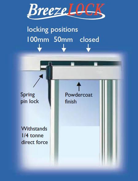 Double Sliding Window Breeze Lock