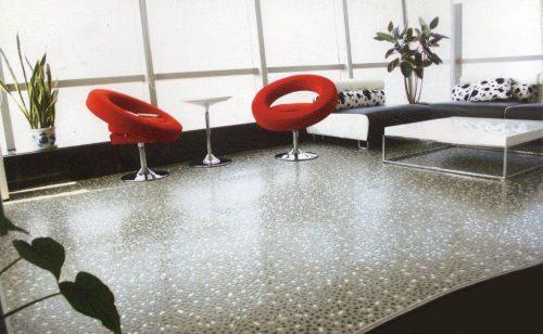PVC Floor Tile Stone Effect example