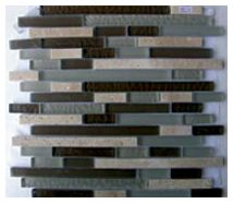 Glass Mosaica Olive Green Marble Mix
