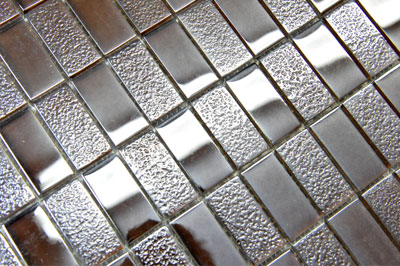 Glass Mosaica Checkered Mocca