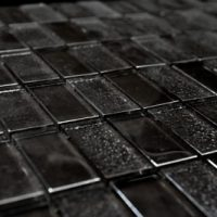Glass Mosaica Checkered Slate