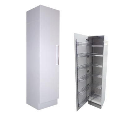Single Door Pull Out Pantry/Linen Cupboard 45m