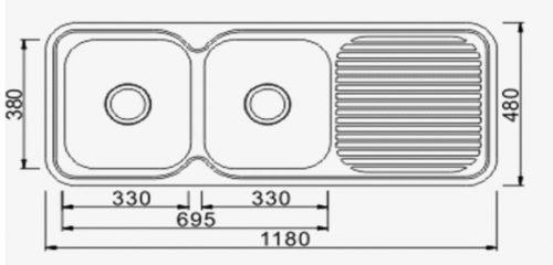 Classic Standard 1180  2 Bowl & Drainer