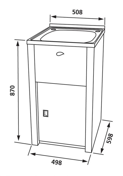 NuGleam Slim Laundry Cabinet & Sink