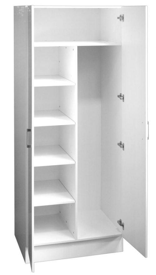 Combination Linen/Broom Cupboard Double Door 80cm