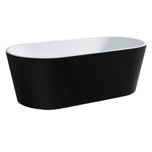 Galaxy Black Oval Freestanding Bath
