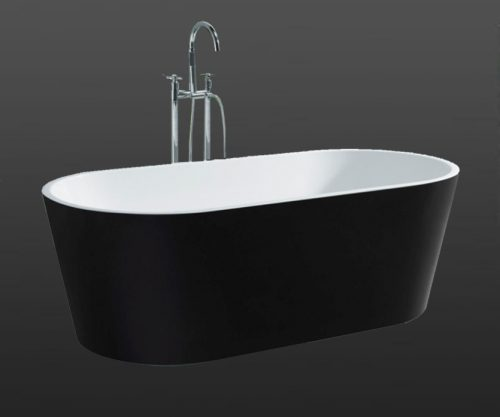 Galaxy Black Oval Free Standing Bath
