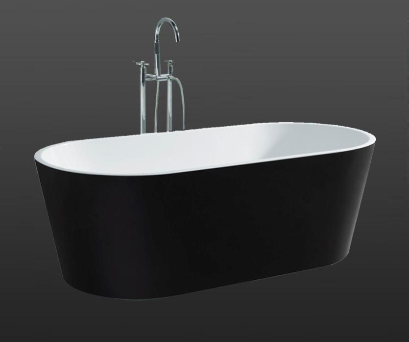 Galaxy Black Oval Free Standing Bath