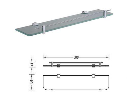 Square 500mm Glass Shelf