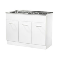 PVC Double Sink Laundry Cabinet
