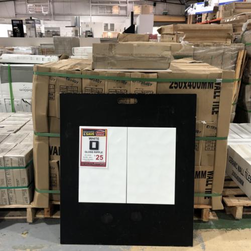 Gloss White Wall Tile 25x40cm