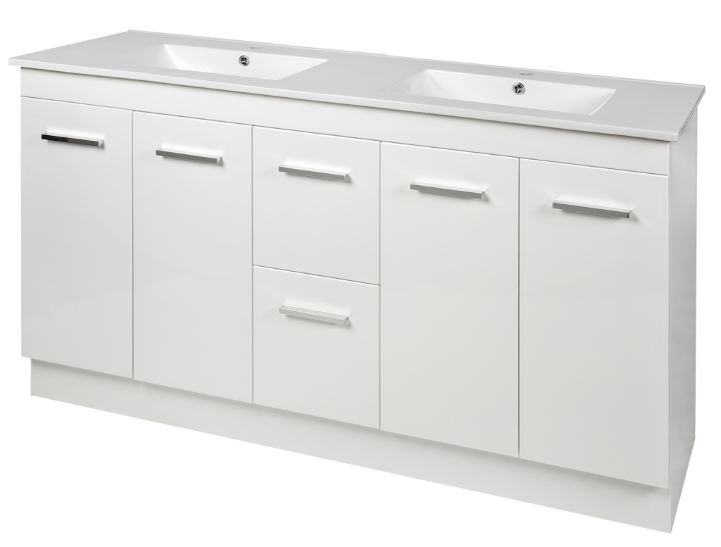 Brianna PVC Vanity, 1500mm Double