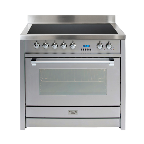 90cm Freestander + Induction Cooktop S/Steel