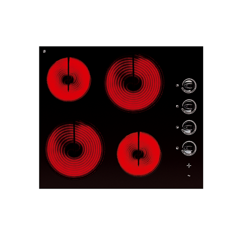 60cm Glass Electric Cooktop