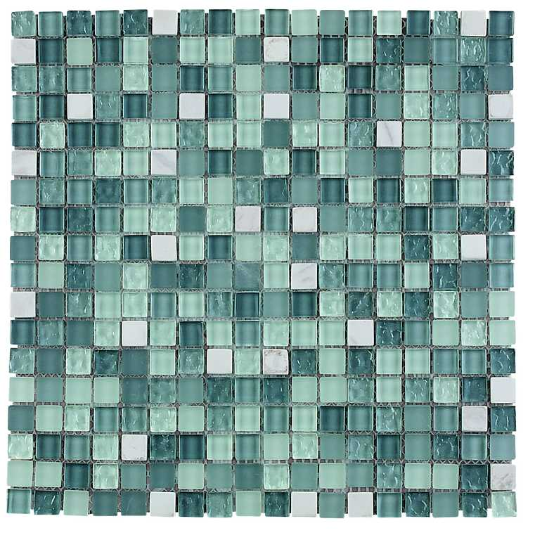 Carrara feature tile