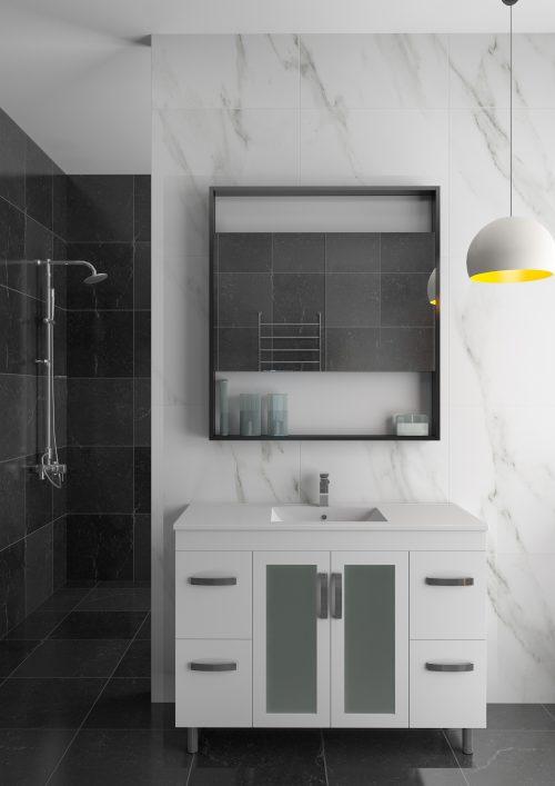 Glazier Vanity Unit w/ Glass Door (120 cm)