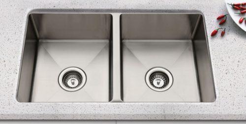 Squareline Double Undermount Sink
