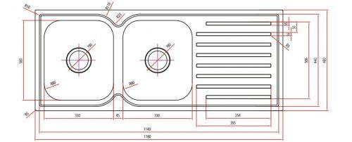 Discount Sink Squareline Specs