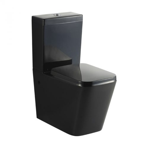 Black Cube Wall Faced Toilet Suite