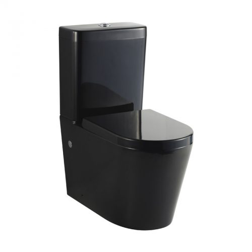 Black Cube Curved Wall Faced Toilet Suite