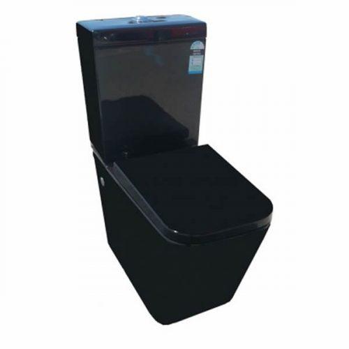 black cube toilet suite