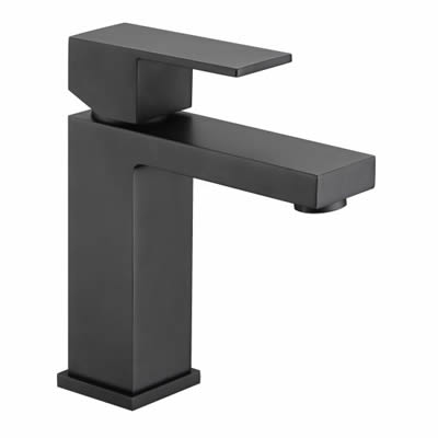 Black Cube Basin Mixer
