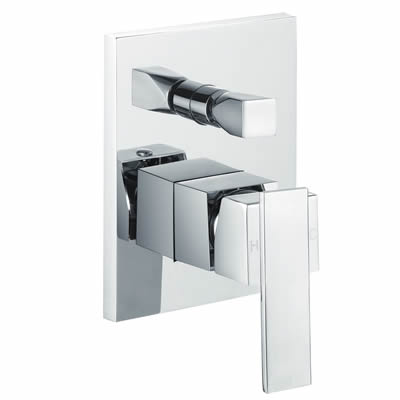 Square Shower Mixer with Diverter