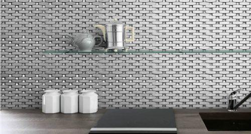 Bling Silver mosaic tile concept