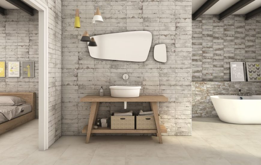 5 feature tiles perfect for an urban hotel-style bathroom