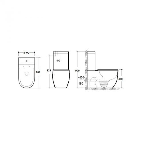Everest Toilet Suite Extra Height Specs