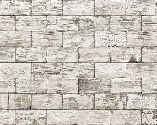 Aged Wood White feature tile
