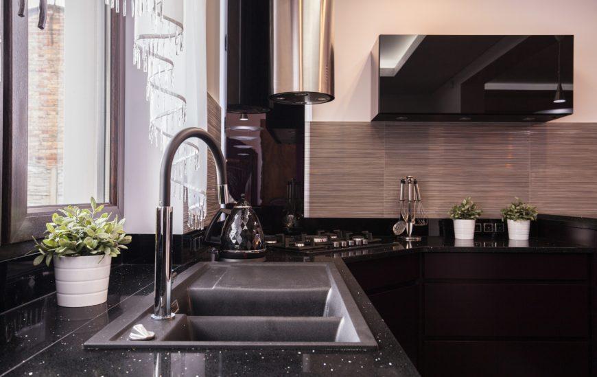 How to design an elegant black kitchen