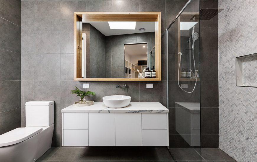 Install a bathroom vanity