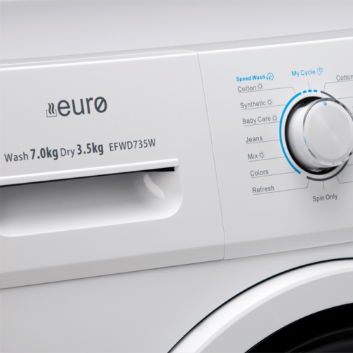 7KG / 3.5KG Front Load Washer / Dryer Combo Controls