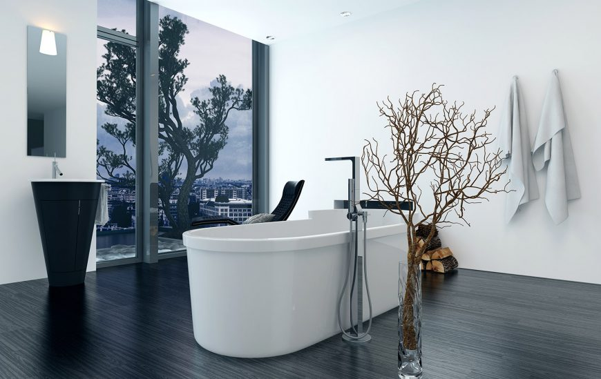 Ultra-Modern Freestanding Bath Mixers for a Contemporary Bathroom