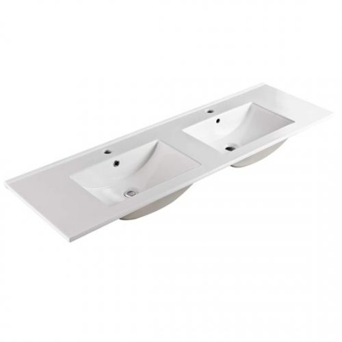 150cm Double Bowl Ceramic Vanity Top