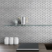 Bling Silver Shiny Metallic gem Tile Mosaic Feature Tiles Wall Interlocking Unique