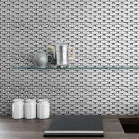 Bling Silver Shiny Metallic gem Tile Mosaic Feature Tiles Wall Interlocking Unique