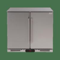 208lt Solid Double Door Stainless Beverage Cooler