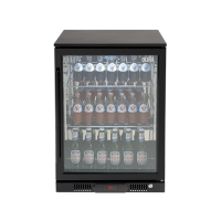138lt Beverage Cooler (Black R Hinge)