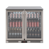 208lt Double Door Beverage Cooler