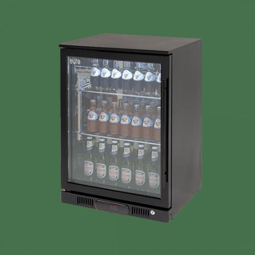 Angled view of 138lt Beverage cooler (L Hinge)