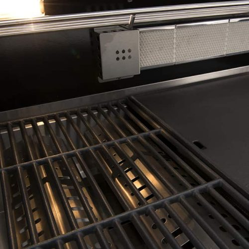 6 Burner Built-In BBQ + Hood - Grill Plate