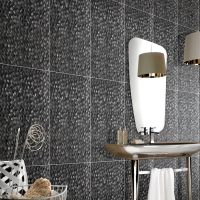 Turretella Glass Tile - Bathroom