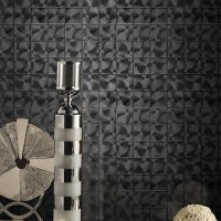 Stainless Steel Look Mosaic Installation
