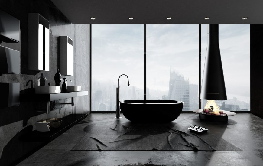 Follow the Black Bathroom Trend with These Products