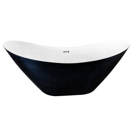 Bermuda Black & White Freestanding Bath