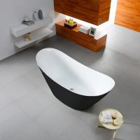 Bermuda Black & White Freestanding Bath